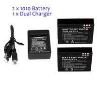 Wholesale 2 Xiaomi yi mAh Xiaoyi Battery Xiao Yi Battery Dual Charger For Yi Action Camera Xiaomi Yi Sports Camera Accessories