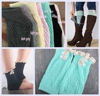 ankle scoks - 7 colors New Women Leg Warmers Down lace scoks Braid Knit Leg Warmers Boot Socks Knee High Socks Lady Boot Cuff DDA3384 pairs