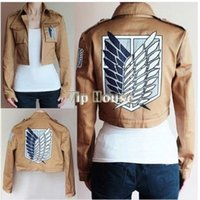 Wholesale Cosplay Costume Attack on Titan Shingeki no Kyojin Jacket Coat outfit New in Stock Retail CB023967