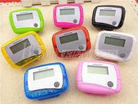 digital pedometer - New Pocket LCD Pedometer Mini Single Function Pedometer Step Counter LCD Run Step Pedometer Digital Walking Counter with Package