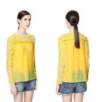 Wholesale New Fashion Women Blouses Hot Selling Lace Shirt Spring Summer Plus SIze Ladies Chiffon Shirts
