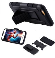 Wholesale For iphone Plus S S Galaxy S6 S5 S4 Note Future Armor Impact Hybrid Silicone PC Case Cover with Belt Clip Holster Kickstand