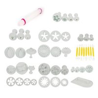 Wholesale 46pcs set turn sugar cake mold suit baking tools flower sugar sugar cookie mould hot saling retail
