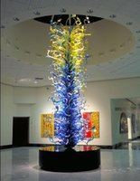 abstract glass sculpture - OEM Mouth Blown Borosilicate Glass Dale Chihuly Craft Hotel Lobby Restaurant Standing Scukpture Abstract Art Sculpture