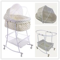 baby furniture - High Quality Iron Baby Basket Cradle With Full Mosquito Net Naturally Baby Swing Cribs Good Baby Bedroom Furniture Drop Shipping