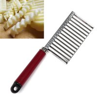 Wholesale Stainless Steel Potato Dough Waves Crinkle Cutter Slicer Home Kitchen Vegetable Chip Blade Knife Cooking Tools