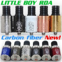 Electronic Cigarette big orchids - New Carbon fiber Little boy mod RDA big drip atomizers clone vs orchid kayfun magma prometheus monkey squape Mephisto Aquilo mods RBA DHL