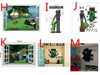 Wholesale Minecraft D Wall Stickers Creeper Decorative Steve Dig Wall Decal Cartoon Wallpaper Kids Party Decoration Festival Wall Art Poster FreeDHL