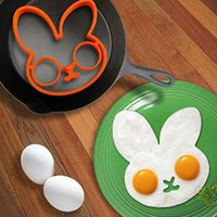 Wholesale 1Pc Cooking Model Little White Rabbit Egg Shaper Silicone Moulds Egg Ring Silicone Mold Cooking Tools