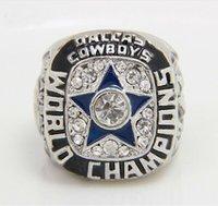 al por mayor placas cuencos-Réplicas de los Dallas Cowboys 1971 de plata anillo de campeonato de Super Bowl plateado Serie Mundial de aleación de los anillos para los hombres Colección