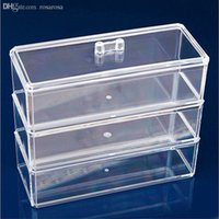 acrylic storage containers for makeup - New Practical Clear Acrylic Cosmetic Organizer Drawers Case Container for Makeup Jewelry Storage