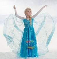 Wholesale New Arrival fashion new Kids Princess dress FROZEN FEVER Dress Frozen Kids dress Baby Girl s dress kids Party dress LJJD2095