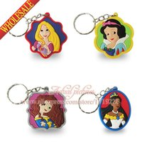 Wholesale Hot sellibng Princess Key Rings Promotional New Design Exquisite Craft PVC Anime Action Figure Key Chain Boys Girls Gift
