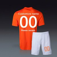 Wholesale customized World Cup Holland home orange Soccer Jersey Soccer Uniforms Netherlands Football Jersey