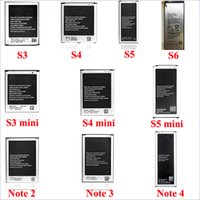 Wholesale Battery for samsung s3 s4 s5 s6 s3 mini s4 mini note2 note3 note4 battery high quality