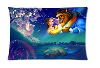 beauty beast cover - Beauty and the Beast Custom Zippered Rectangle Pillowcases Pillow Cover Cases Size x75cm Two sides U2