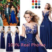 royal blue wedding dresses - Tarik Ediz Royal Blue Maxi Sequin Chiffon Evening Prom Gown Cheap Sheer Crew Neck Celebrity Backless Wedding Party Formal Dresses