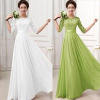 Wholesale 2015 New arrival PC Women Vintage Lace Chiffon Wedding Party Long Dress vestidos de festa Vestido longo Plus size