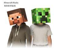 PVC minecraft - 1 pecs Minecraft Creeper JJ strange Enderman Steve Head Mask Costume Mask Best Gift Paper Material Minecraft Head Mask