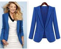 ladies suits - 2015 new Women s suit fashion autumn Slim thin long section small suit jacket Lady Coats Outerwear