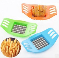 Wholesale Stainless Steel Vegetable Potato Slicer Cutter Chopper Chips Making Tool Potato Cutting Fries Tool Kitchen Accessories