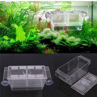 Wholesale 1PCS Large Fish Aquarium Breeding Boxes Double Guppies Hatching Incubator Isolation Acrylic Tanks
