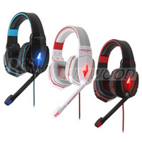 Wholesale EACH G4000 Pro Headphones Stereo Gaming Headset Anti Noise Headphones with Mic Headband Volume Control for PC Games