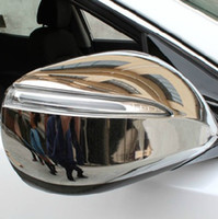 Wholesale 2013 Hyundai Santa Fe ix45 ABS Chrome Rearview mirror cover Trim Rearview mirror Decoration