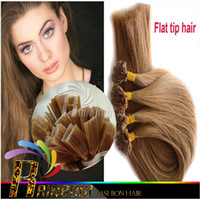 Cheap Pre Bonded Flat Tip Hair Extensions 1g Strand Remy Human Keratin Hair 300g pack 18-28inch 300g pack Hair Extensions