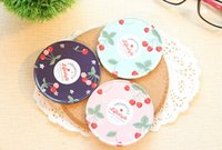 Wholesale Children s stationery New cute Sweet round coasters placemat skid pad iron coffee cup coaster cup mat