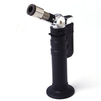 fuel nozzle - Rotating Nozzle Jet Flame Butane Gas Refillable Lighter Torch Fuel Welding Soldering Ever Chef Creme Brulee Kitchen Cooking torch lighter