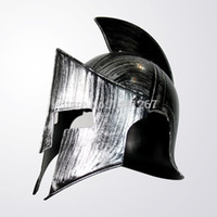 ancient warriors - Halloween Adult Cosplay Props Ancient Rome Warrior Hero Plastic Silvery Spartan Helmet Toy Hot Selling