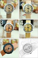 wooden hook - Wooden Watches Neutral Watches Simulation Wooden Quartz Men Charm Watches Women Casual Fashion Leather Strap New Wooden Color Watch Wood Mal