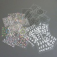 adhesive transfer sheets - Sheet Mixed Flower Design D Nail Art Stickers Transfer Decal For Nails Self Adhesive Manicure Tips in WNA0001