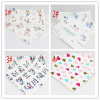 baby bibs manufacturers - 2016 Manufacturers outlet cotton children s triangle double snap Baby Bib slobber towel newly born cute bibs for sale A021302