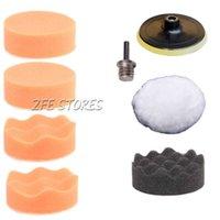 Wholesale 7Pcs inch Buffing Pad Auto Car Polishing Wheel Kit Buffer quot Drill Adapter