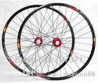 Wholesale New arrival CUBE quot alloy aluminum Mountain bicycle wheelset clincher rim MTB bike wheelset holes