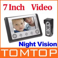 Wholesale 7 Inch Video Door Phone Doorbell Intercom Kit camera monitor Night Vision freeshipping dropshipping