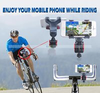 Wholesale Bicycle Mobile Phone Holder for iPhone Samsung HTC LG Mobile Phone GPS MP4 MP5 Rotation Stand Folding Anti Shock Holder