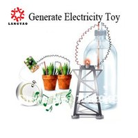 battery power toys - 1pc Novelty Generate Electricity Toy Power Experiment Toy Green Science Battery Toy Toy15