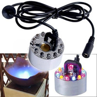 Wholesale New LED mm Mist Maker Misting Fogger Fog Water Fountain Pond Atomizer Air Humidifier Aquarium crafts