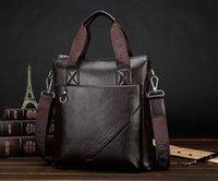 Wholesale New Fashion mens Messenger Bag Business Style Men PU Leather shoulder bag Gift for men Briefcase Tote Purse Men Hnadbag C005