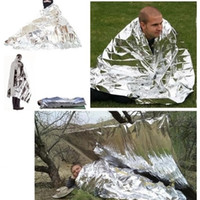 Wholesale Outdoor Waterproof Emergency Rescue Space Foil Thermal Blanket Retain Body Heat Reusable HW01038