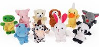 Wholesale Baby Plush Toys Cartoon Fun Animal Finger Hand Puppet Kids Learning and Education Toys