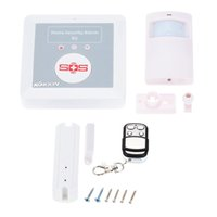 Wholesale KKMOON Wireless GSM SMS Home Security Alarm System with SOS for Elderly Care Android Phone Control K2 S558