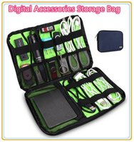 Wholesale Hot Brand Digital Accessories Storage Bag Cable Organizer Case Put Hard Drive Disk Cables USB Flash Travel Case Home Buggy Bag