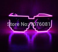 christmas music box - Light Up El Glasses Wire Glow Shades Rave Party Bar Eyeswear Accessory Sunglasses Music Box