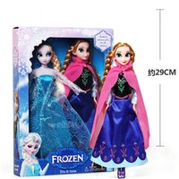 Wholesale DHL Frozen Anna Elsa olaf Toys Princess dolls Inch Nice Gift For Kids Girls Christmas Toy