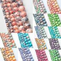 Wholesale MM New Mixed Color AAA Rainbow Round Natural Stone Beads for Women Bracelet making Jewelry Accessories piece