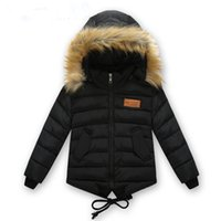 Wholesale Children s clothing male winter cotton padded jacket down cotton wadded jacket thickening boys girls thicken Hooded coat